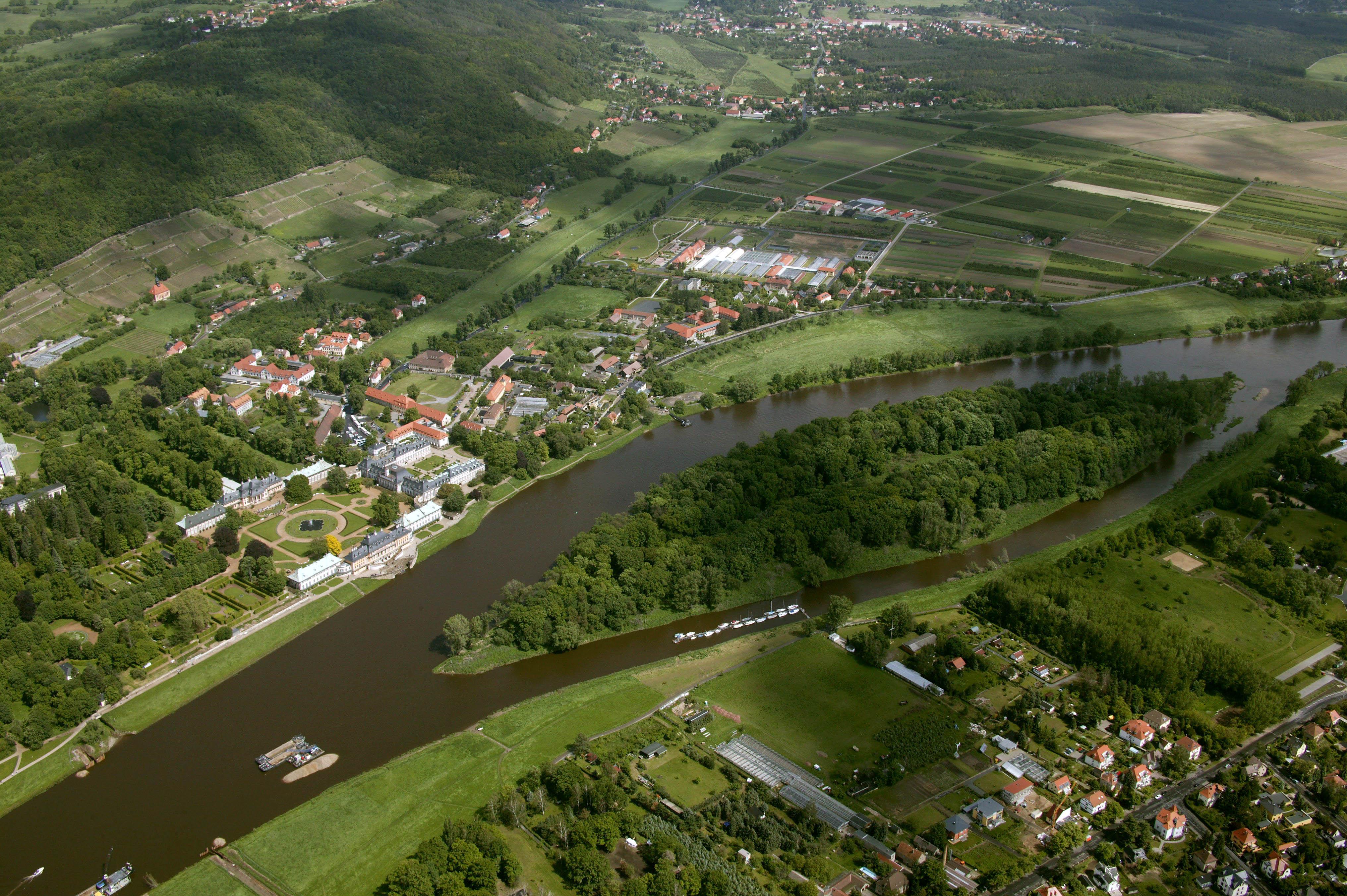 Luftbild von Pillnitz
